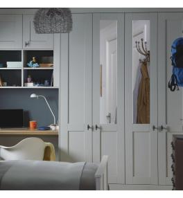Kingsdown Mirrored - Plain Shaker Wardrobe Door